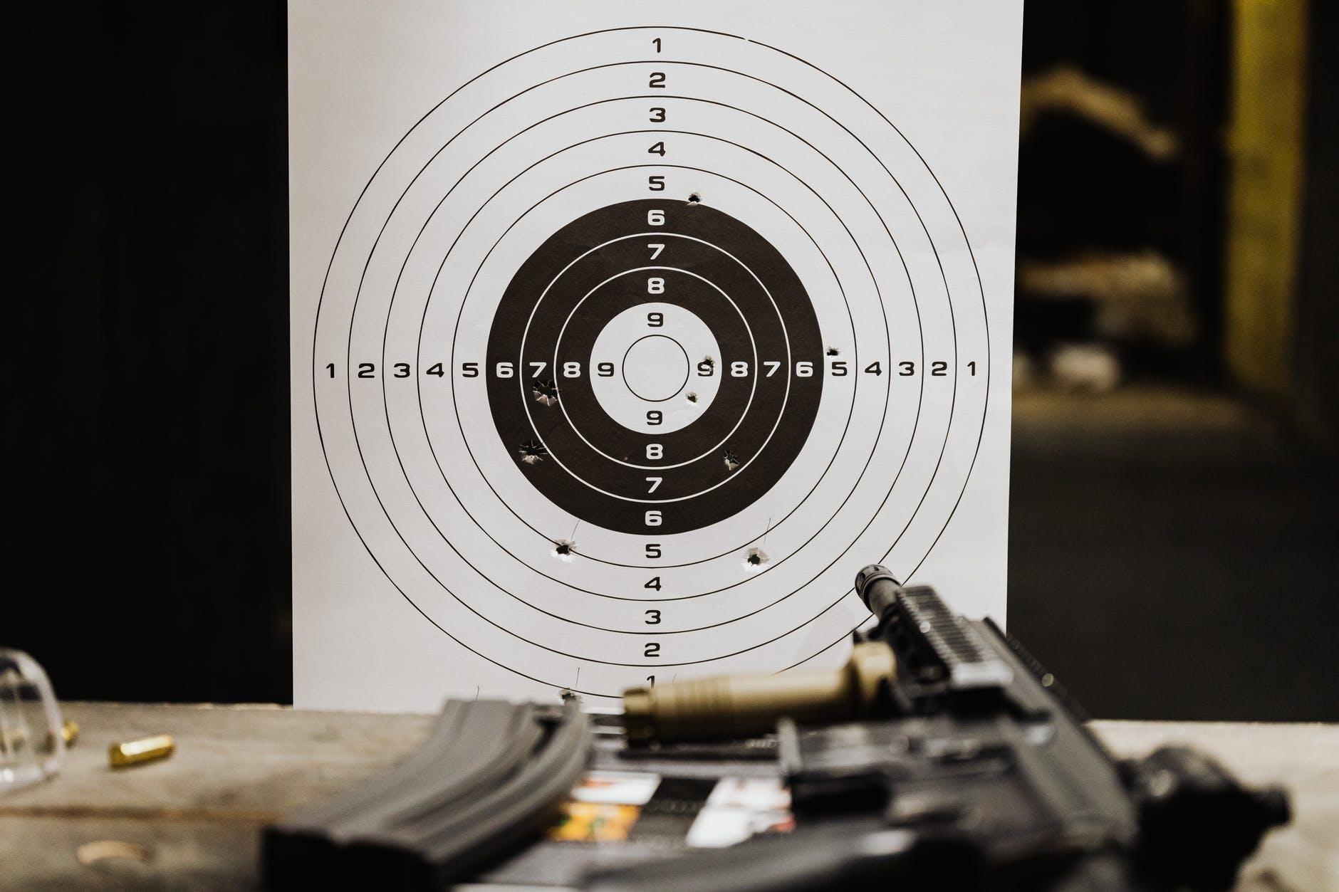 A gun at a shooting range