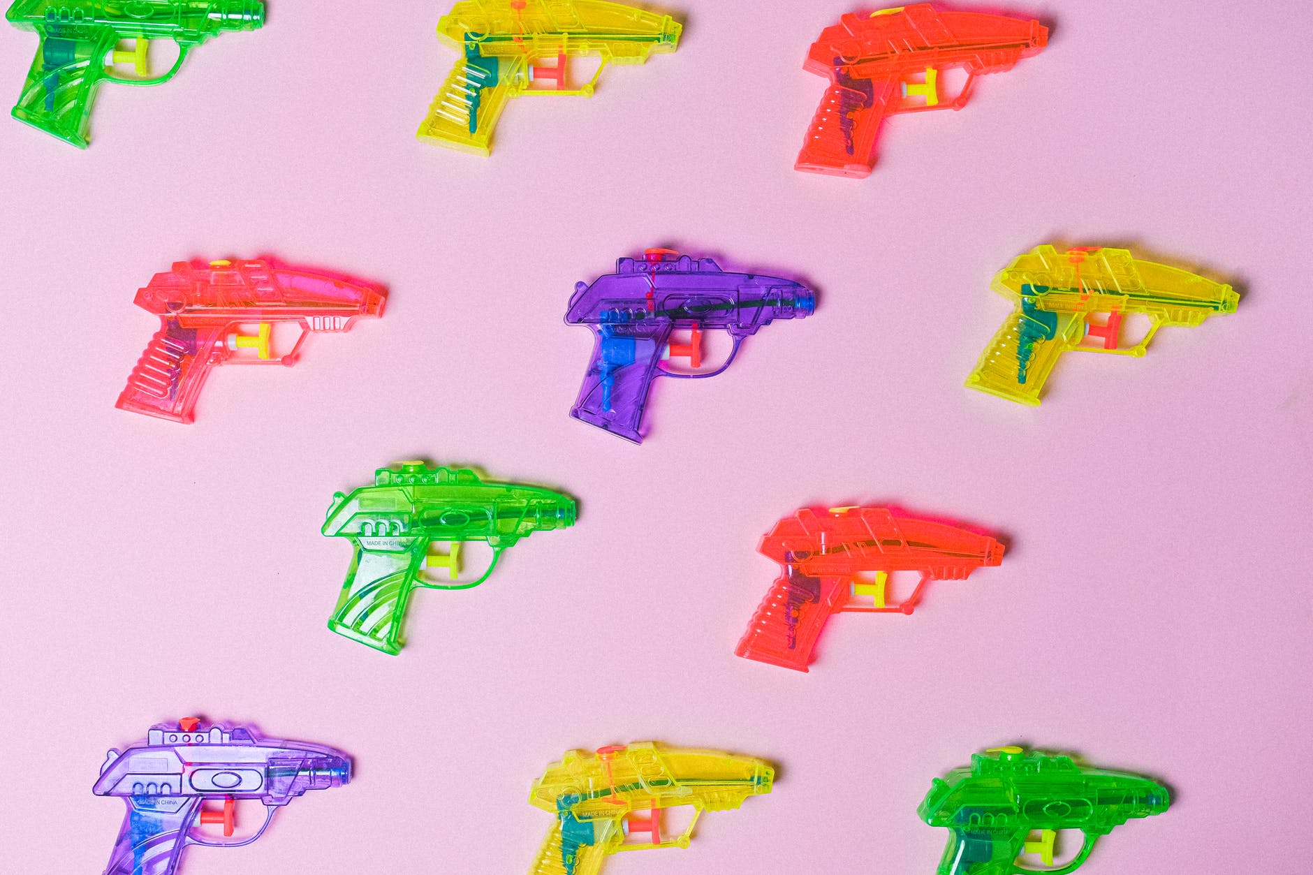 Different types of toy guns for kids